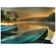 Lakeside Canoes in HDR Poster