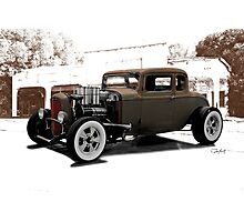 1932 Ford Coupe 'New Shoes' Photographic Print