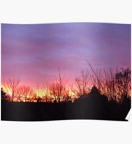 Rotherham Sunset Poster