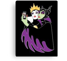 Grimhilde & Maleficent Selfie Canvas Print