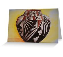 Indian pottery Greeting Card