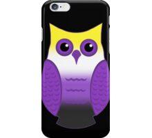 Nonbinary Pride Owl iPhone Case/Skin