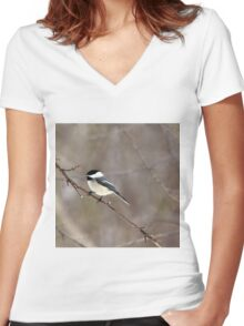 Sing A Song Women's Fitted V-Neck T-Shirt