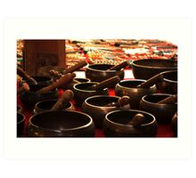 singing bowls Art Print