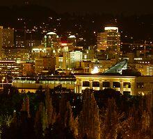 Night Lights of Portland by tego53