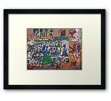 Bisbee, Arizona Graffiti Wall 2009 Framed Print