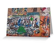 Bisbee, Arizona Graffiti Wall 2009 Greeting Card