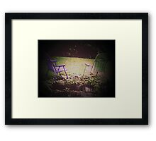 Two Lonely Chairs Framed Print