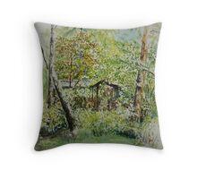 Landscape Resarö Sweden Throw Pillow
