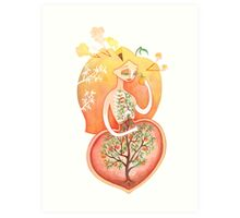 Seedling (Peach Pit)  Art Print
