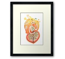 Seedling (Peach Pit)  Framed Print