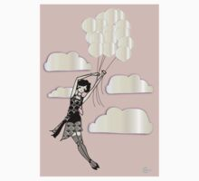 Floating Flapper Gatsby Girl in pink and pearl Kids Clothes