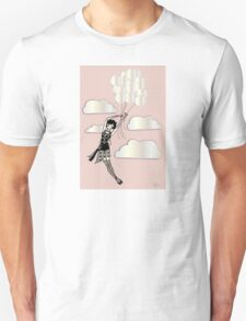 Floating Flapper Pink Unisex T-Shirt
