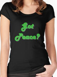 'Got Peace?' Women's Fitted Scoop T-Shirt