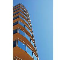 Blue Glass, Blue Sky Photographic Print