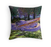 Walking Through the Woods One Day Throw Pillow