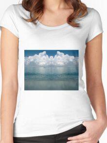 Tropical beach (Curaçao) Women's Fitted Scoop T-Shirt