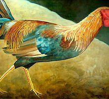 Running Rooster by Scott Plaster