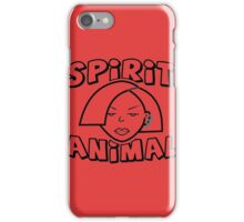 Jane Lane SPIRIT ANIMAL BLACK iPhone Case/Skin