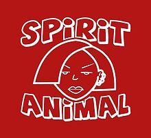 Jane Lane SPIRIT ANIMAL WHITE by mightylesbinaut