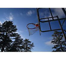 school yard hoops Photographic Print