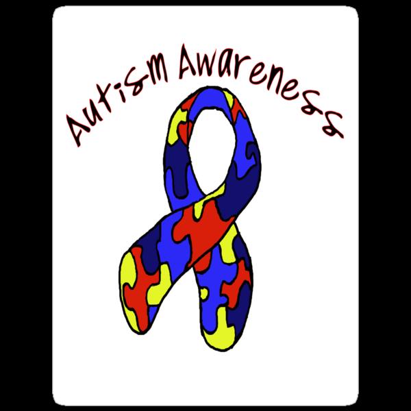 Autism Jigsaw Ribbon Awareness by mrsgerm