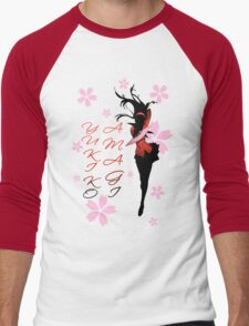 Yukiko Amagi Cherry Blossoms Men's Baseball ¾ T-Shirt