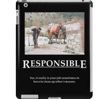 Life's Lesson 11 - Responsible iPad Case/Skin