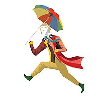 6th Doctor Vector Sticker Photographic Print