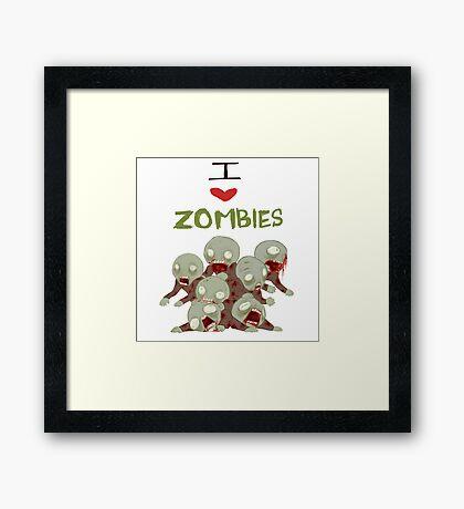 I <3 Zombies Framed Print