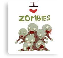 I <3 Zombies Canvas Print