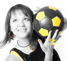 Girl&Ball_1 by VioDeSign