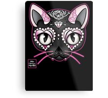 Day of the Kitty PINK Metal Print
