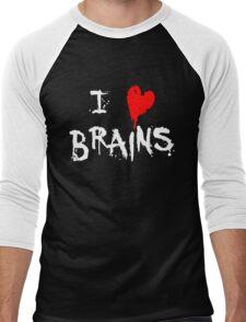 I HEART BRAINS.... Men's Baseball ¾ T-Shirt
