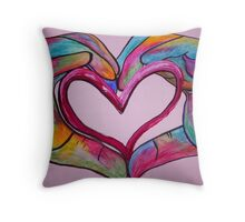 Universal Sign for Love - You Hold my Heart in Your Hand Throw Pillow