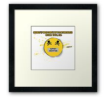 MD5 Hash Support Encryption Framed Print