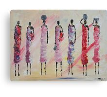 Masai women Canvas Print