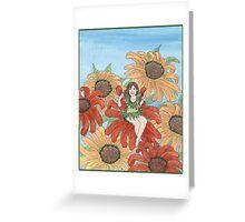 Echinacea Elf Greeting Card