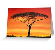 Series of Sunset Greeting Card