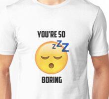 Zzz Emoji   Boring Unisex T-Shirt