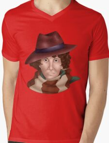 Tom Baker Mens V-Neck T-Shirt