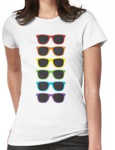 wayfarer rainbow Womens Fitted T-Shirt