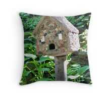 Rock Birdhouse  Throw Pillow
