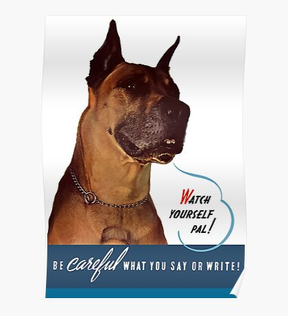 Be Careful What You Say Or Write! Poster