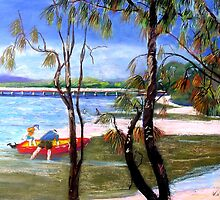 Bribie Island Bridge  by Virginia McGowan