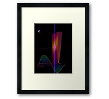 Paranormal high-rise erection by night Framed Print