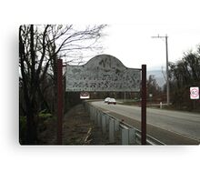 Welcome to Marysville Canvas Print