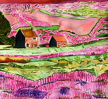 Two Homes Around the PInkish Hill, at the Moors by Nira Dabush
