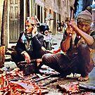 Street butcher, Nepal by John Spies