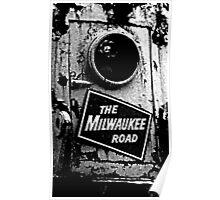 Railroad Locomotive The Milwaukee Road Poster